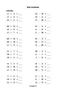 negative-numbers-worksheet-from-minus-to-plus-20-thumbnail